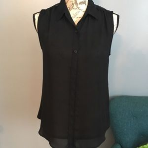 Express Original Fit Sleeveless Portfino Shirt S